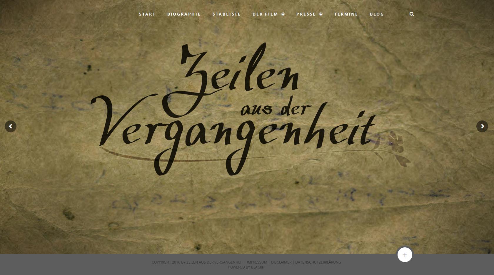 Webseite für Zeilen aus der Vergangenheit