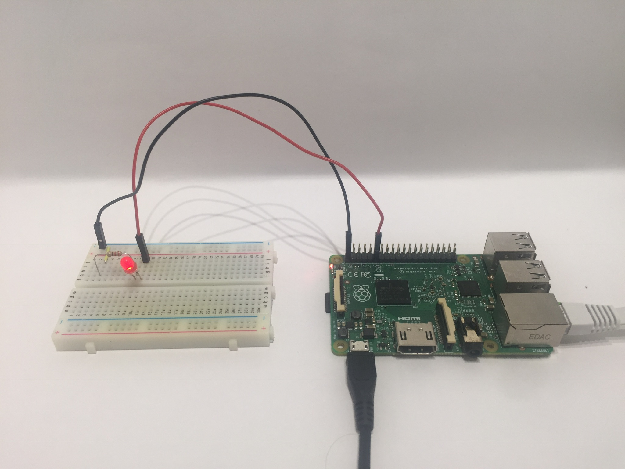 Raspberry Pi blinkende LED