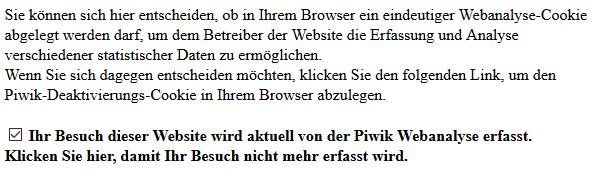 Nur noch Piwik statt Google Analytics