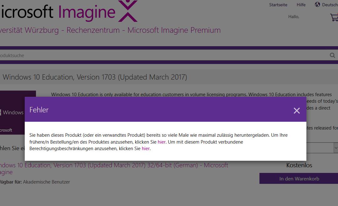 Microsoft Imagine Premium: Zweiter Windows 10 Key